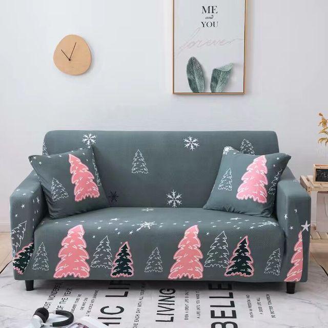 Фото пасторальные листья чехлы для диванов эластичные чехлы из спандекса цена