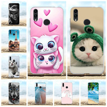 For Huawei Honor 8C Case Soft TPU Silicone BKK LX2 LX1 L21 Cover Cat Pattern Shell Capa