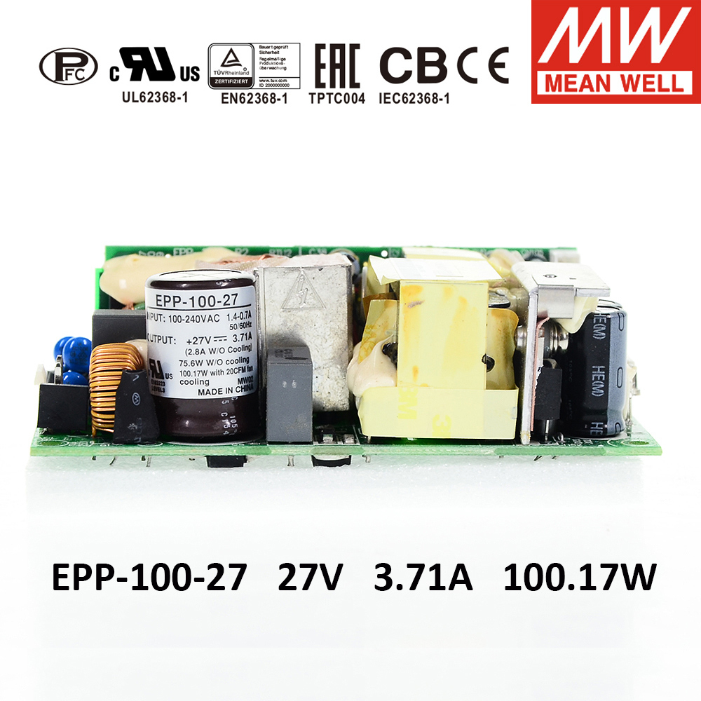 MW Mean Well EPP-100-27 27V 3.71A 150W Single Output with PFC Function Power Supply