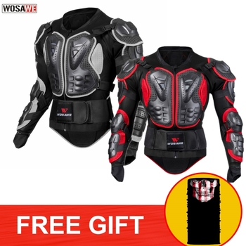 WOSAWE Motorcycle Armor Jacket Motocross Body Armor Jacket Windproof PE Shell Shoulder Back Guard Support Men Motocross Jacket