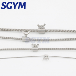 2pcs 304 stainless steel handscrew clamp wire rope fasteners butterfly buckle for 2 3 4 5 6 8 10 12 14mm steel wire