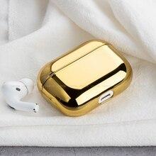 Жесткий чехол для наушников для AirPod про 2019 гальванических защитный чехол наушники зарядка коробка Apple Airpods 3 аксессуары
