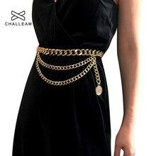 Роскошные Дизайнерские Пояс металлический для Для женщин в стиле ретро панк бахрома талии цвет серебристый, Золотой Платье с поясом Дамы бренд кисточкой цепь ремень женский 05
