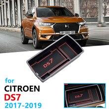 Acessórios do organizador carro para citroen ds7 ds 7 2017 2018 2019 caixa de apoio braço armazenamento estiva tidying caixa de moedas cartão adesivos