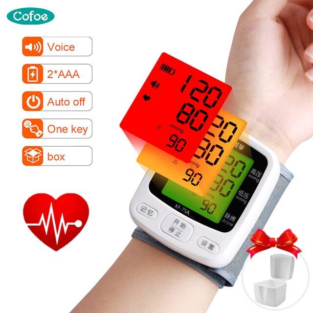Cofoe Handgelenk Blutdruck Monitor Home Tragbare Digitale Automatische Blutdruckmessgerät für Mess Blutdruck und Puls Rate