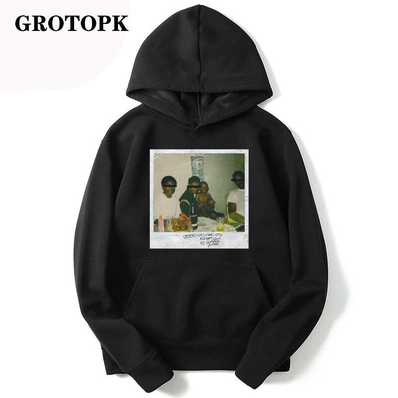 Kendrick Lamar Good Kid Men's / Women's Swestshirts Fashion Warm Rap Music Mens Hoodie Loose Print Streetwear Black Hoodie
