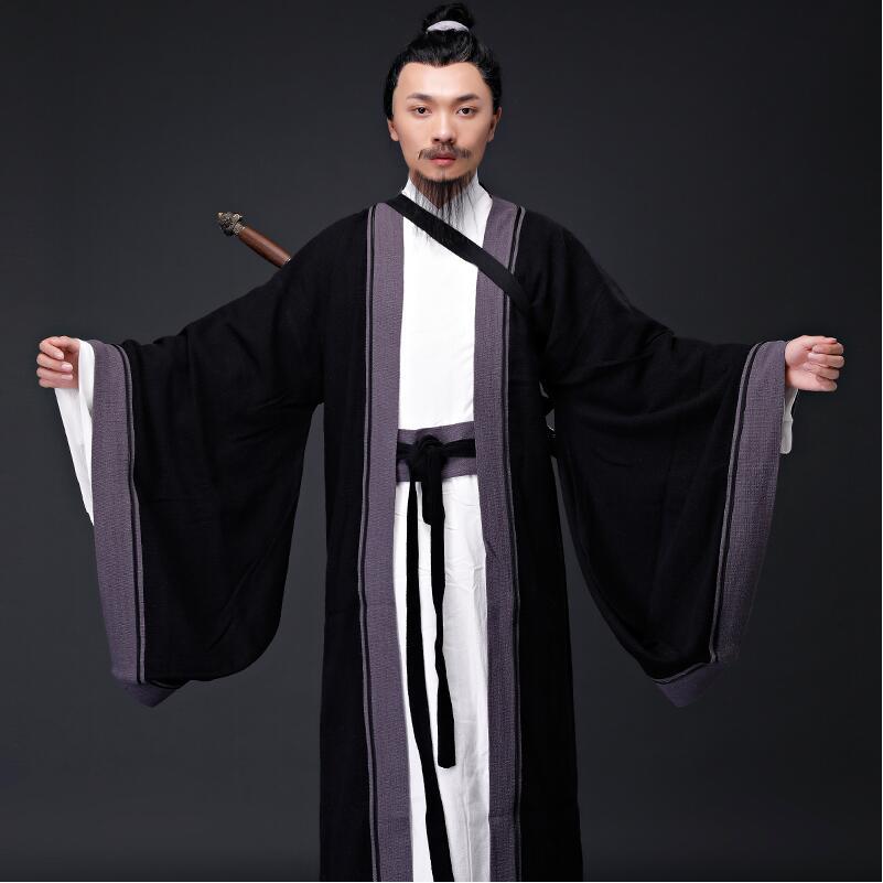 Ancient Chinese Hanfu Taoist Priest Men Clothing