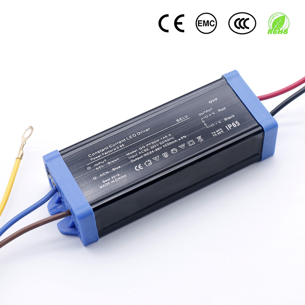 30W 50W  Waterproof LED Driver AC85-265V Power Supply Constant Current Voltage DC24-36V LED Lighting Transformer Converter DIY