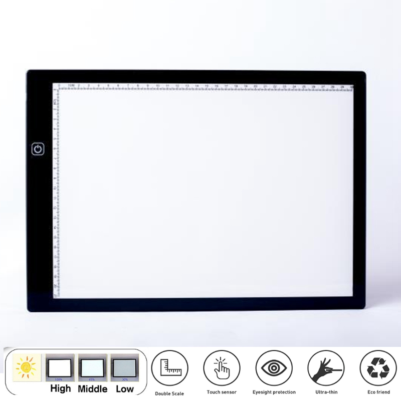 A4 LED Ie Tablet Drawing Digital ie Pad Type C LED Drawing Tablet Electronic Art Painting with Stand