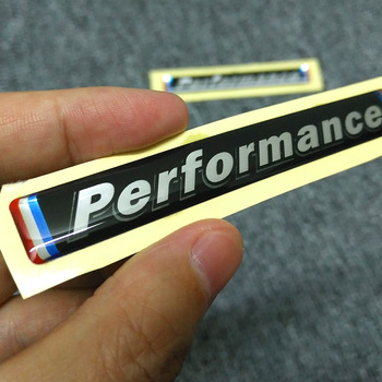stickers performance M car rear bumper sticker for bmw E34 E36 E60 E90 E46 E39 E70 F10 F20 F30 X5 X6 2pcs image
