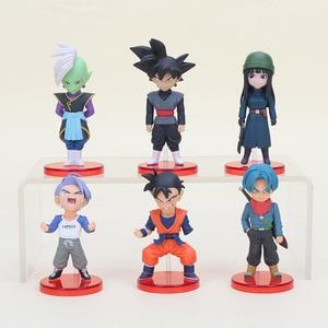 Image 1 - 6pcs/set 6cm Dragon ball Acion Figure Son Goku Black Trunks Zamasu Model PVC Action Figure Toy Christmas