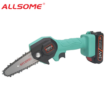 Saw Electric Chain-Saw Woodworking Lithium-Battery Garden 24v Portable Logging Pruning
