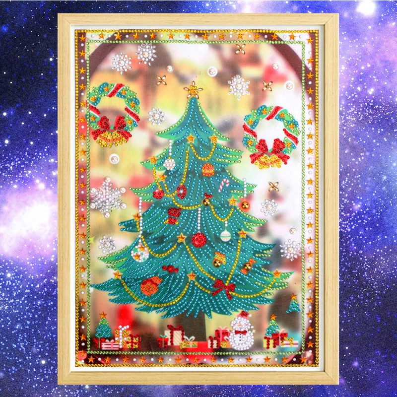 Creative Cute Shining Cheistmas Tree Diamond Painting Christmas Festival Home Party Superumarket Decoration Party Decoration