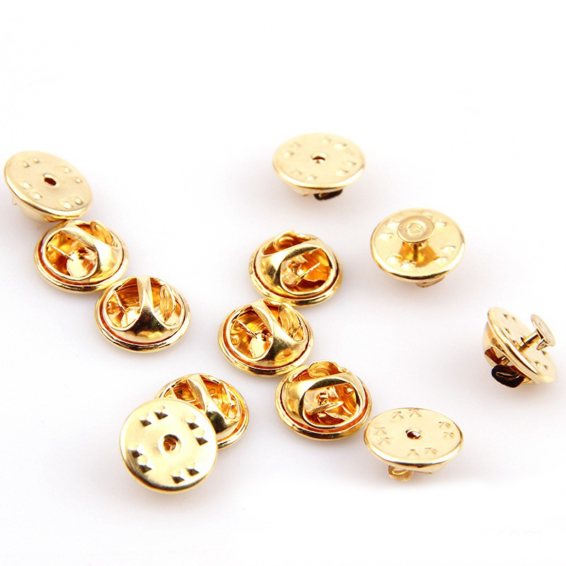 10pcs Holder Clutch DIY Buckle Squeeze Badge Jewelry Accessories Lapel Pin Butterfly Brooch Clasp