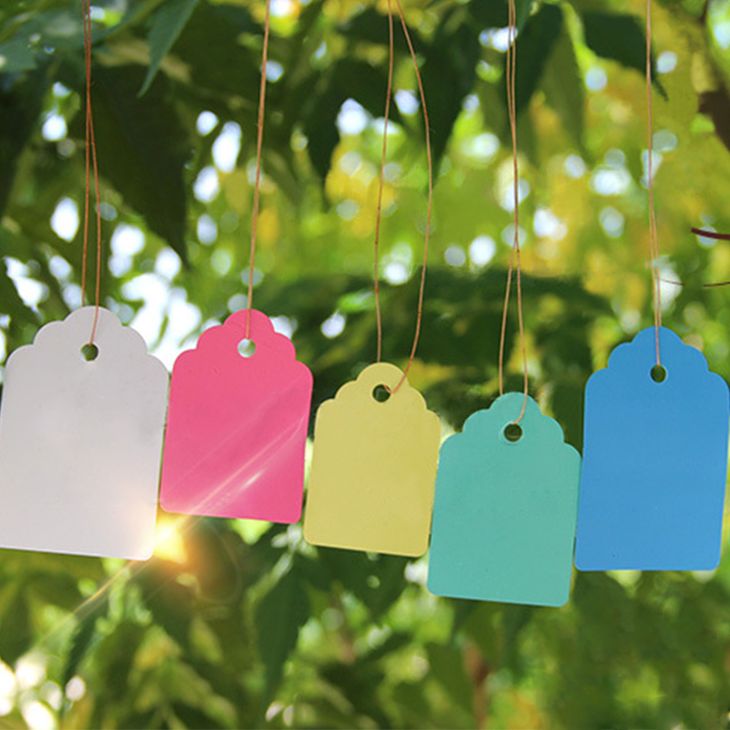 Waterproof Strip Line Plant Labels Plants Hang Tag Hanging Tags Flower Pot Marker Signs Garden Decoration Gardening Tool 100pcs