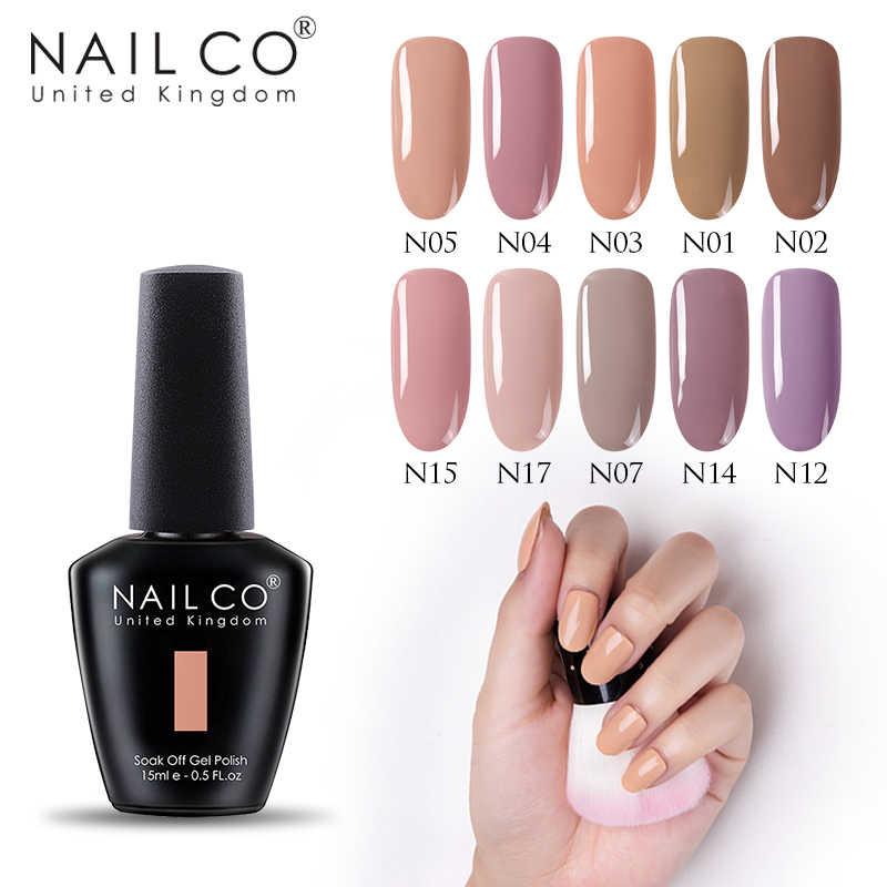 NAILCO Nude Seriesใหม่มาถึงPrimer Gel Varnish Soak Off UV LEDเจลเล็บGellak Luckyเจลเล็บhybridเล็บ