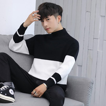 Men Turtleneck Cotton Pullover Autumn Winter Warm Soft Long