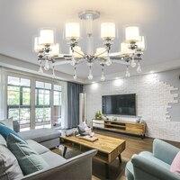 Moderna iluminação lustre chrome led lustres de cristal sala estar led lustre teto para sala estar luzes
