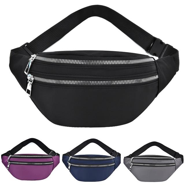 2021 New  For Women Waterproof  Waist Bags Ladies Fashion Bum Bag Travel Crossbody Chest Bags Unisex Hip Bag 1
