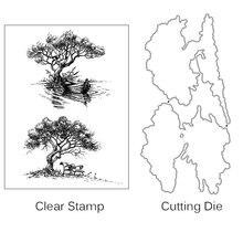 Прозрачные штампы zhuoang с изображением дерева лодки для вырезания