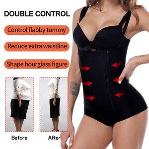 Image 4 - Plus Size Látex das Mulheres Shaper cintas modeladora para cintura modeladores corporais Do Corpo de Emagrecimento Cueca Pós lipoaspiração Cinto Clipe Bodysuit Cintura Shaper Shapewear Reductoras sinta modeladora