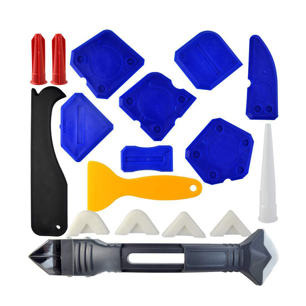 18Pcs Shovel Glue Beauty Seam Plastic Scraper Glass Tile Wall Side Glue Beautification Improvement Construction Tools