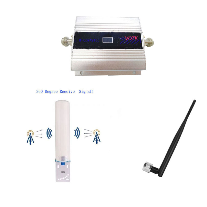 NEW 3G Signal Booster Celluar Amplifier 2100mhz 3G Signal Repeater With Omni Outdoor Antenna Full Set