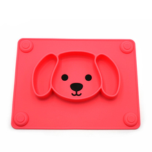 Toddlers Tableware Reusable Suction Portable Foldable Easy Clean Non Slip Cute Leakproof Baby Placemat Child Feeding Puppy Shape