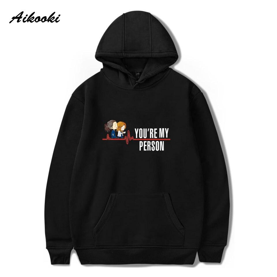 Grey's Anatomy Cotton Hoodies Men/Women Fashion Sweatshirts Crewneck Sweatshirts Hip Hop Hoodie You Are My Person Print Hoody