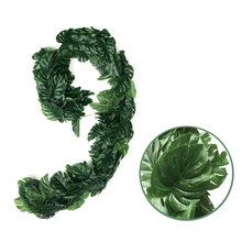 1M/2M Simulation Turtle Back Leaf Rattan Encryption Glue Material Plant Family Wedding Garden Decoration