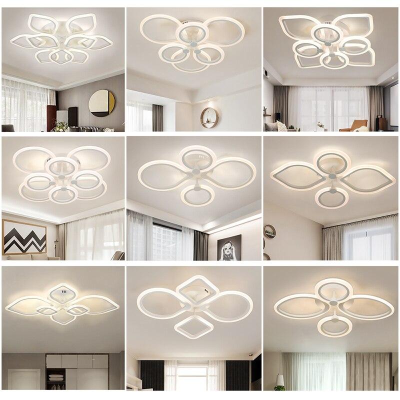 Nouveau led lustre pour salon chambre maison moderne Led éclairage plafonnier salon lustre dîner salle lustre