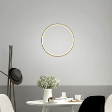 Minimalist Modern LED Chandelier Lights round ring Circle Pendant Lamp Home For Living Room Lighting Indoor Fixture