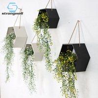 Strongwell Nordic Iron Art Hanging Basket Flowerpot Flower Pot Planter Crafts Metope Adorn Balcony Home Decoration Contracted