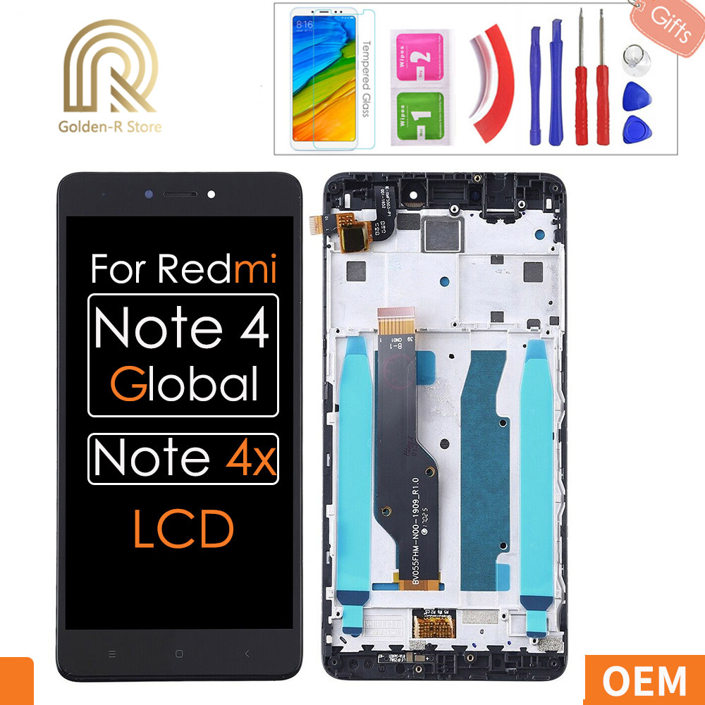 5.5'' AAA quality For <font><b>Xiaomi</b></font> <font><b>Redmi</b></font> <font><b>Note</b></font> <font><b>4X</b></font> <font><b>LCD</b></font> <font><b>Display</b></font> Touch Screen for <font><b>Redmi</b></font> <font><b>Note</b></font> 4 Global Snapdragon 625 Replacement +Gifts image