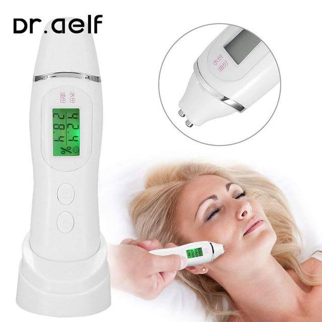 Handheld skin analyzer oil content digital LCD analyzer facial skin hygrometer skin care battery powered display tester
