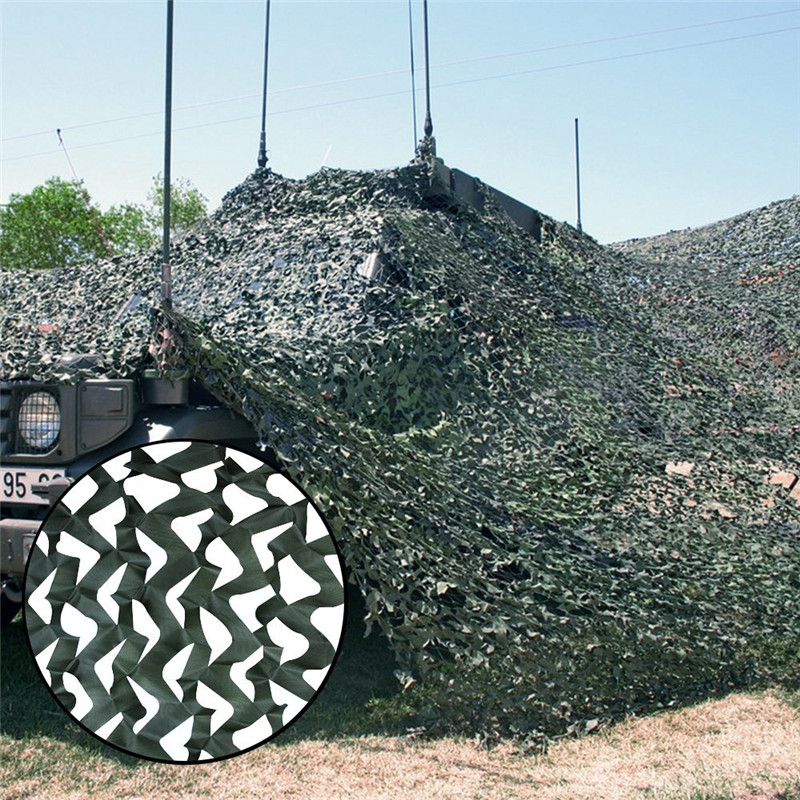 10m Beach Selter Tarp Tent Military Camouflage Nets Black Netting Camping Tent Outdoor Hunting Camo Amry Sun Shelter Car Awning - 4