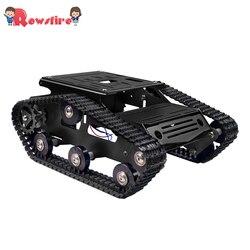 Nouveau Kit de cadre de voiture de châssis de chenille de réservoir de Robot intelligent de bricolage chaud-noir/bleu/rouge/vert/or