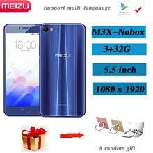 Meizu m3x 3gb 32gb câmera dupla smartphone 3200mah grande bateria suporte versão global barato smartphone música 98% novo