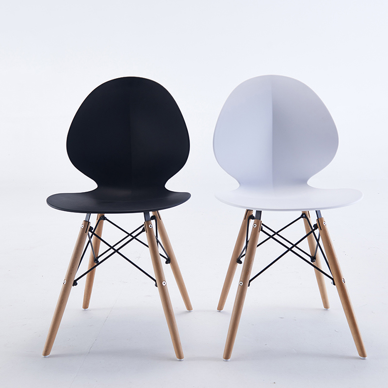 Modern INS Plastic Chair Restaurant Dining Chair Restaurant Office Meeting Computer Chair Family Bedroom Learning Plastic Chair