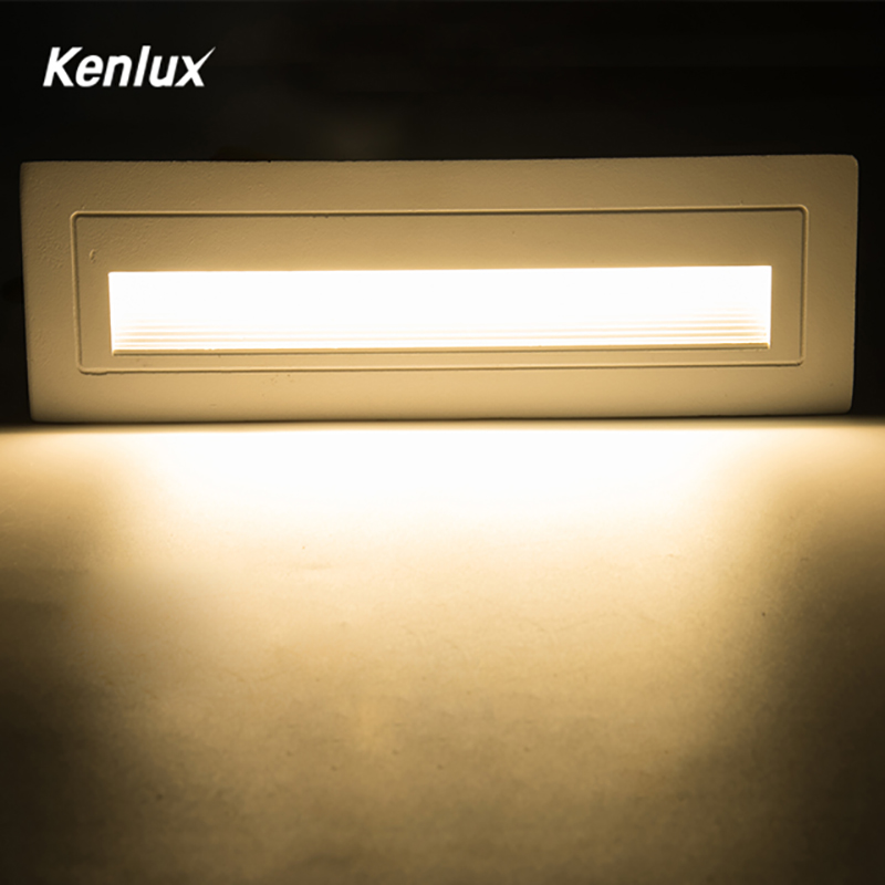 Kenlux Led stair light step lights 6W SMD 210*60mm AC85-265V Aluminum outdoor indoor waterproof Embedded staircase Wall lamp