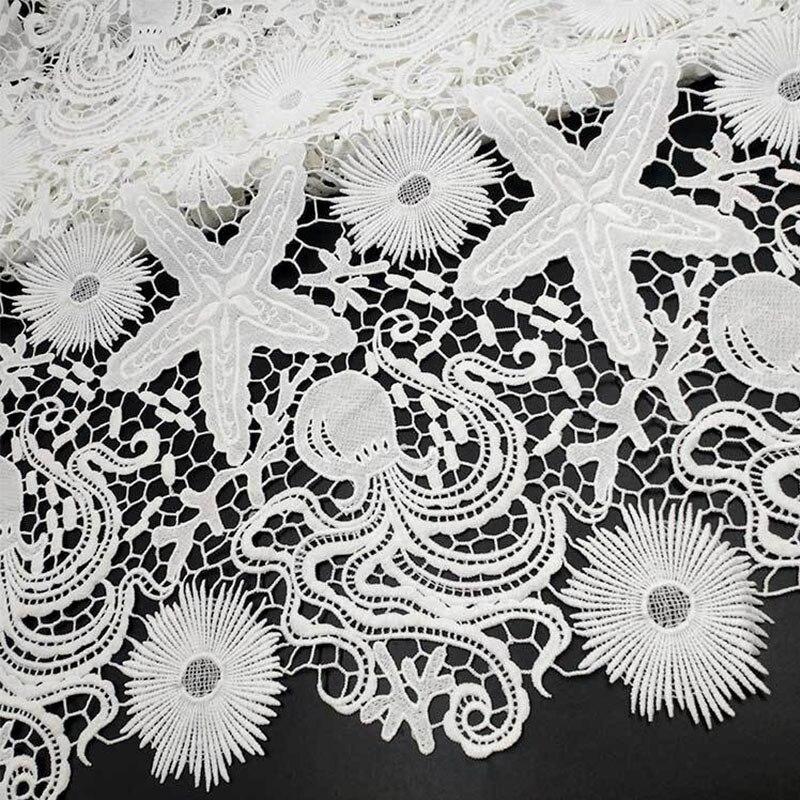 1 Yards 130cm Lace Ribbon Guipure Lace Trim Or Party Dress Fabrics Warp Knitting DIY Curtain Sofa Guipure Trims Sewing Decor