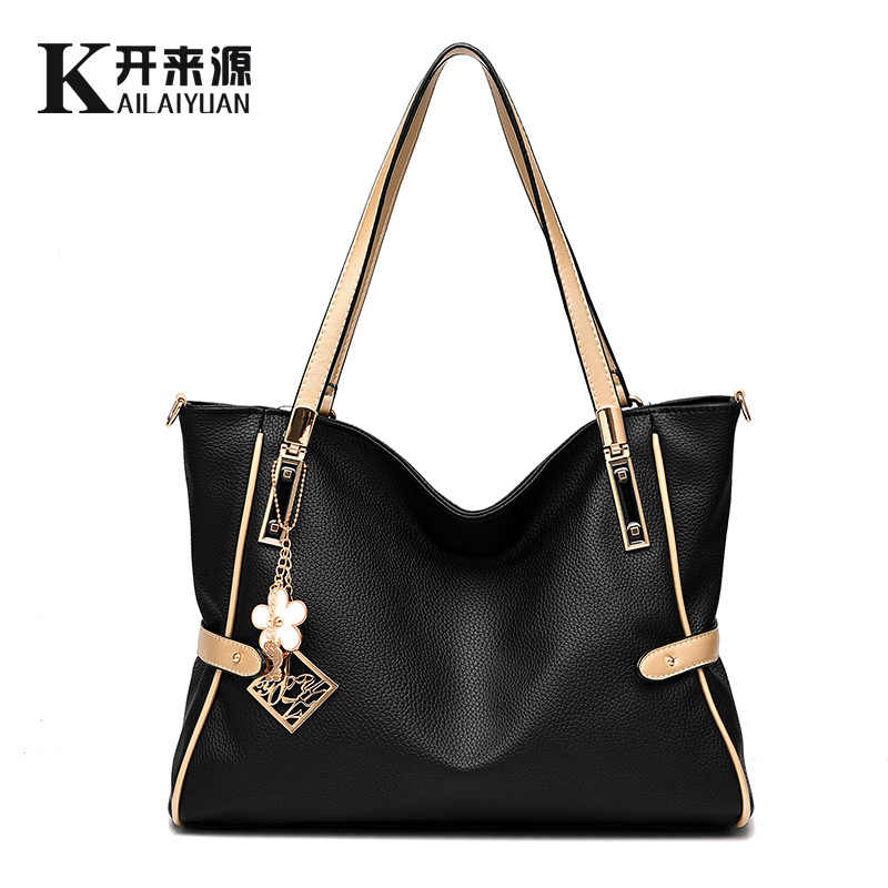 100% Genuine leather Women handbags 2019 new  handbags female cool style atmosphere fashion handbags Crossbody Shoulder Handbag