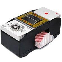 Juego de cartas de póquer eléctrico automático Poker Shuffler Robot para Casino tarjeta mezclador máquina de barajado jugando a Poker herramienta