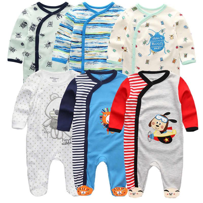Kiddiezoom Baby Girls 3-Pack Long-Sleeve Bodysuit Newborn Clothes 0-12 Months