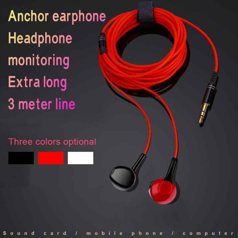 3.0M In-Ear Headset Kabel 3.5 Mm Gaming Headset Headphone Musik Earphone Headphone dengan Subwoofer MIC untuk Xiaomi iPhone 6 S 7 X