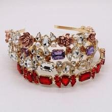 Модная Тиара с кристаллами в виде короны искусственная кожа