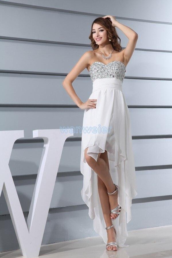 Vestidos De Novia Free Shipping 2018 Formal Plus Size New Design Crystal Maxi Long Sexy Chiffon White Prom Bridesmaid Dress