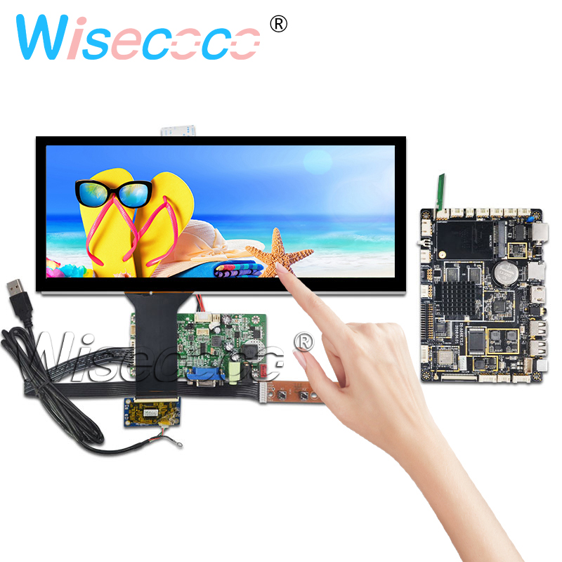12.3 Inch 1920*720 LCD HSD123KPW1-A30 Touch Panel Bar Screen HDMI Drive Board Support Android Bluetooth Card Automotive Display