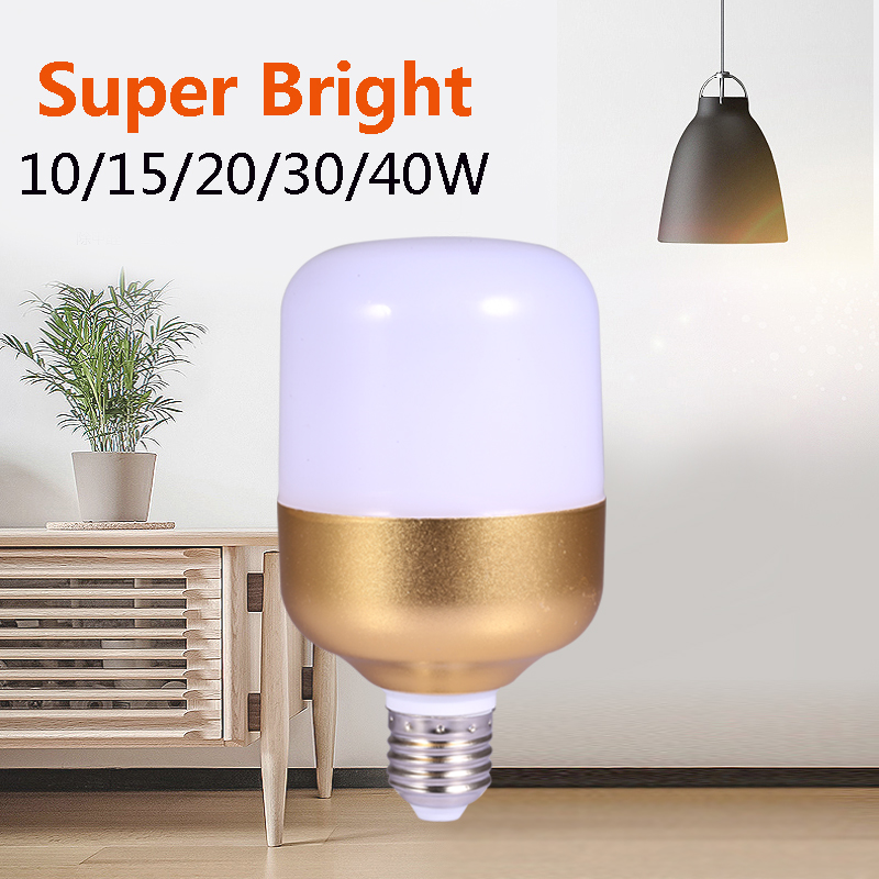 Power LED Lamp E27 10W 15W 20W 30W 40W 220V Led Bulb Bombilla Ampoule Led Lights Energy Saving Spotlights For Home Cold White