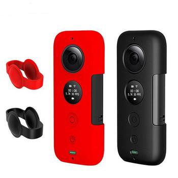 STARTRC Insta360 jeden X silikonowy futerał ochronny z osłona obiektywu dla Insta360 jeden X kamera sportowa futerał ochronny akcesoria tanie i dobre opinie Insta360 One X 360 ° Wideo Kamery Akcesoria Zestawy 11*5*2